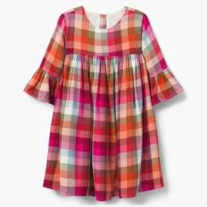 Gymboree Flannel Dress with Bell Sleeves (8)